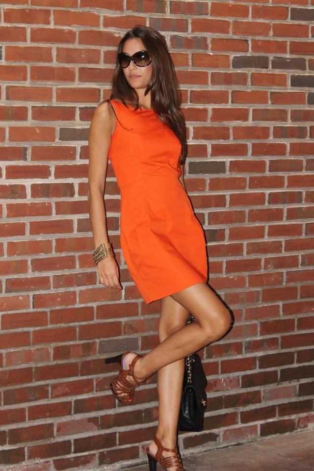 rolando-santana-orange-dress