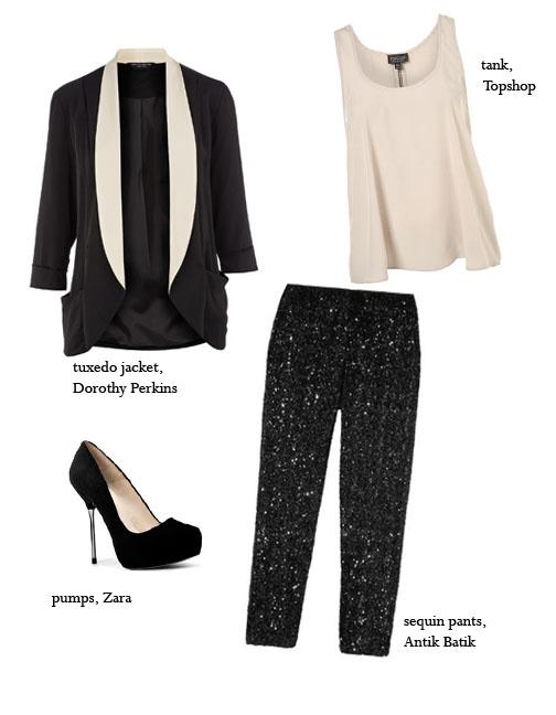 Tuxedo-Look